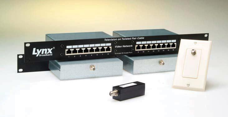 Lynx Broadband Cat 6 TV Distribution