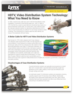 TV Distribution White Paper